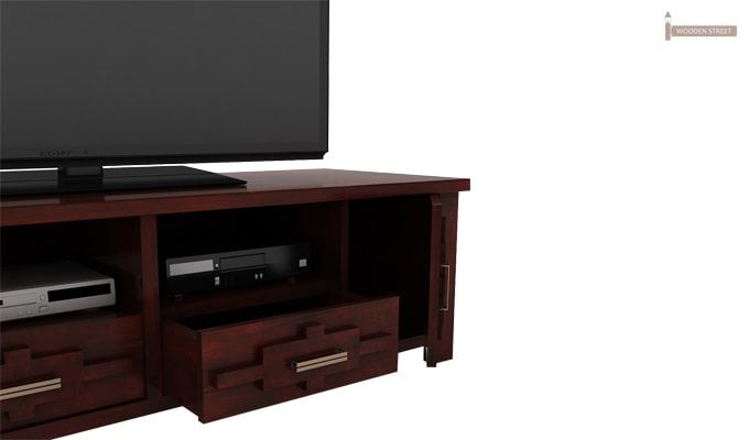 Eden Tv Unit (Mahogany Finish)-5