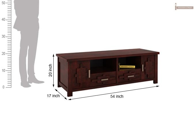 Eden Tv Unit (Mahogany Finish)-6