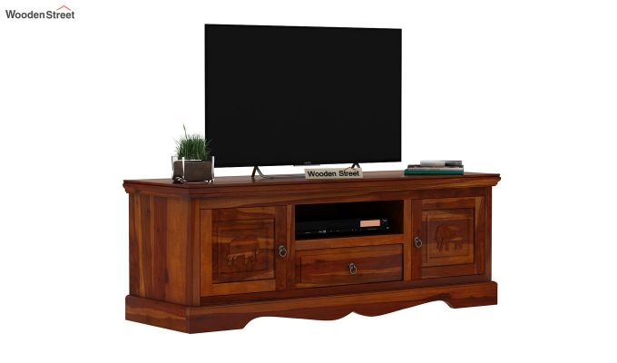 Emboss Tv Unit (Honey Finish)-2