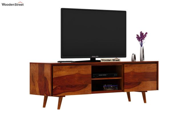 Enkel Tv Unit (Honey Finish)-2