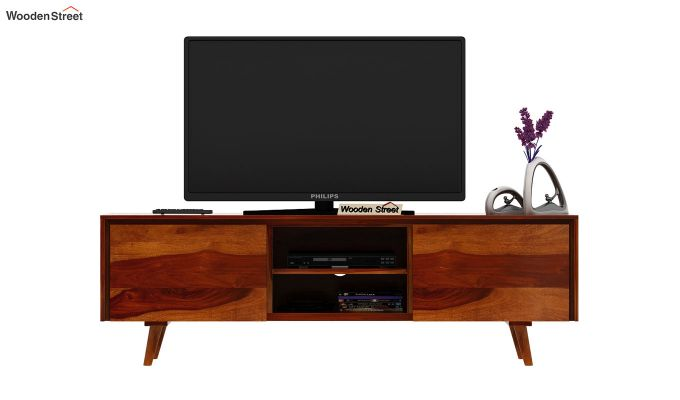 Enkel Tv Unit (Honey Finish)-3