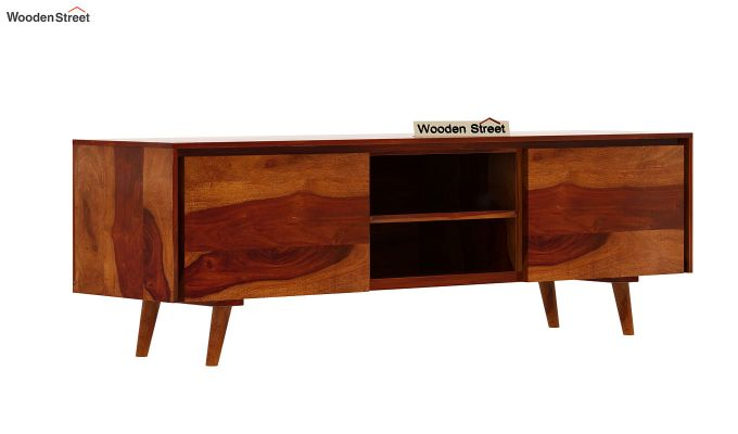 Enkel Tv Unit (Honey Finish)-4