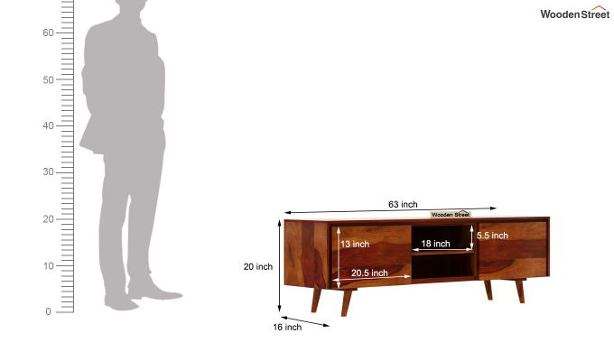 Enkel Tv Unit (Honey Finish)-7