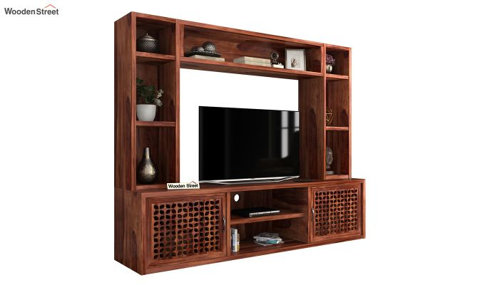 Epcot Tv Unit (Honey Finish)-2