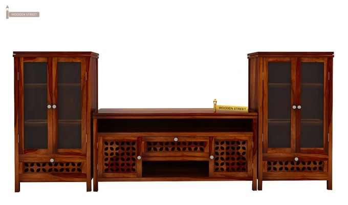Ernest Tv Unit (Honey Finish)-2