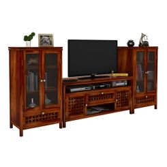 Ernest Tv Unit (Honey Finish)