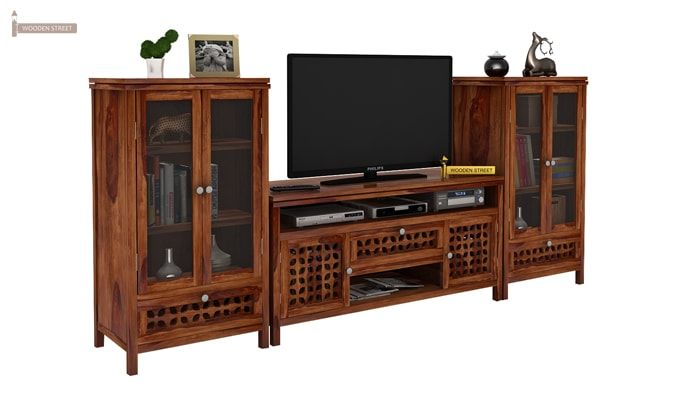 Ernest Tv Unit (Teak Finish)-1
