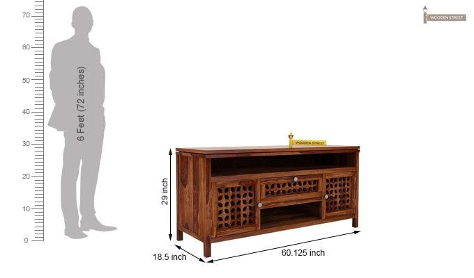 Ernest Tv Unit (Teak Finish)-6