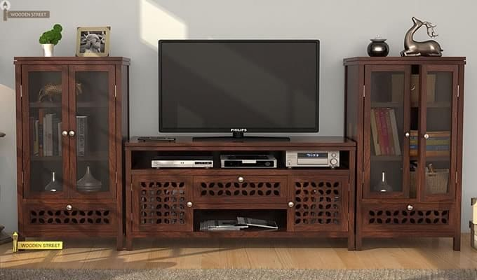 Ernest Tv Unit (Walnut Finish)-1
