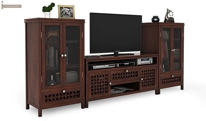 Ernest Tv Unit (Walnut Finish)-2