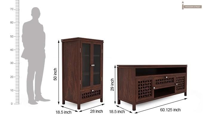Ernest Tv Unit (Walnut Finish)-8