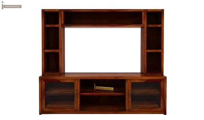 Estell Tv Unit With Shelves (Honey Finish)-3