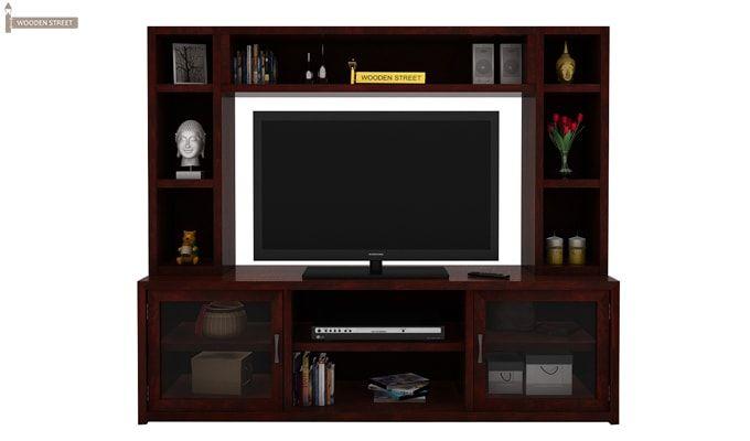 Estell Tv Unit With Shelves (Mahogany Finish)-2