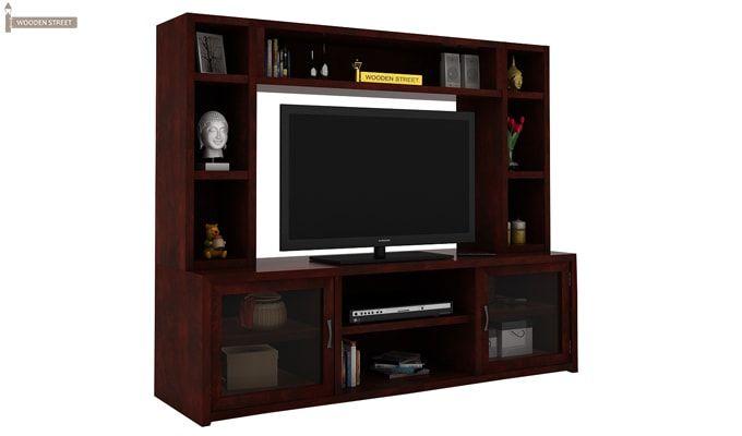 Estell Tv Unit With Shelves (Mahogany Finish)-3