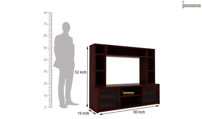 Estell Tv Unit With Shelves (Mahogany Finish)-4