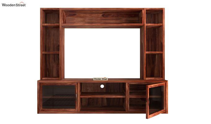 Estell Tv Unit With Shelves (Honey Finish)-6