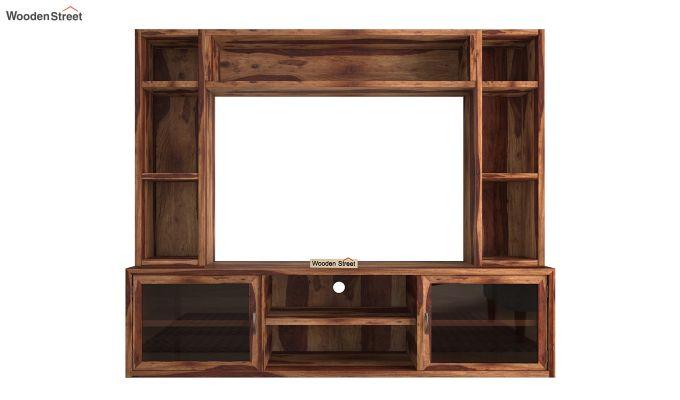 Estell Tv Unit With Shelves (Teak Finish)-4