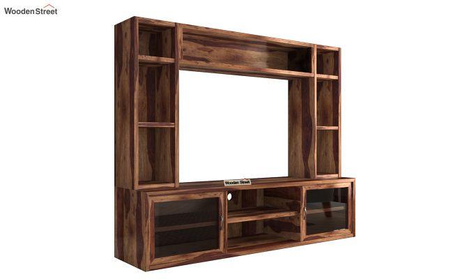 Estell Tv Unit With Shelves (Teak Finish)-5