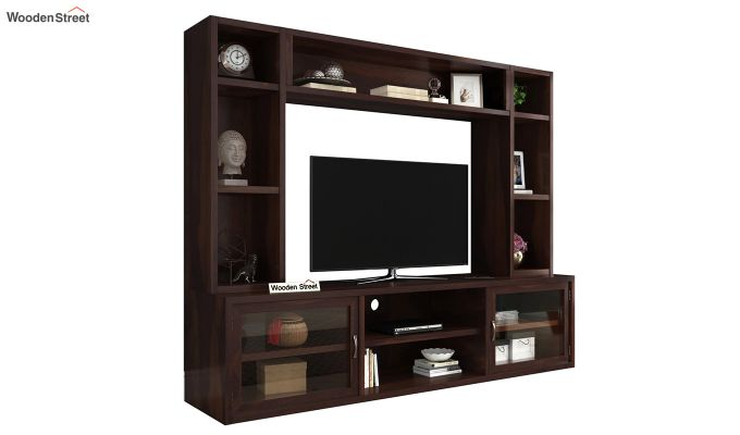 Estell Tv Unit With Shelves (Walnut Finish)-2