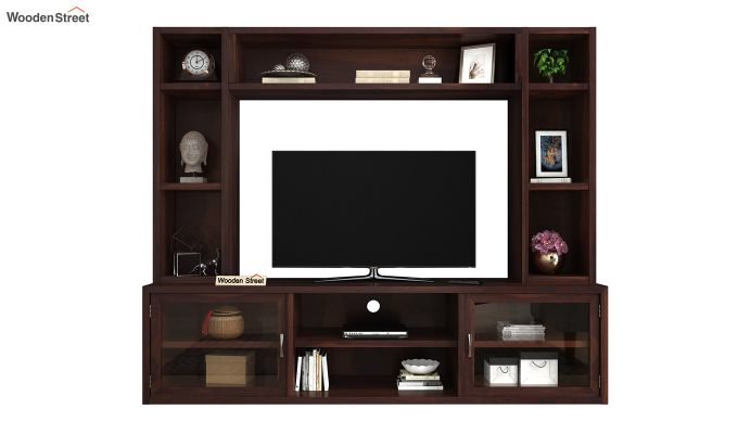 Estell Tv Unit With Shelves (Walnut Finish)-3
