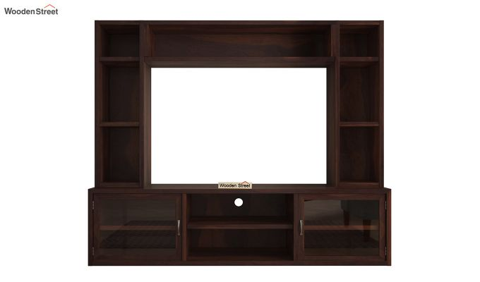 Estell Tv Unit With Shelves (Walnut Finish)-4