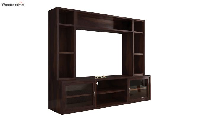 Estell Tv Unit With Shelves (Walnut Finish)-5