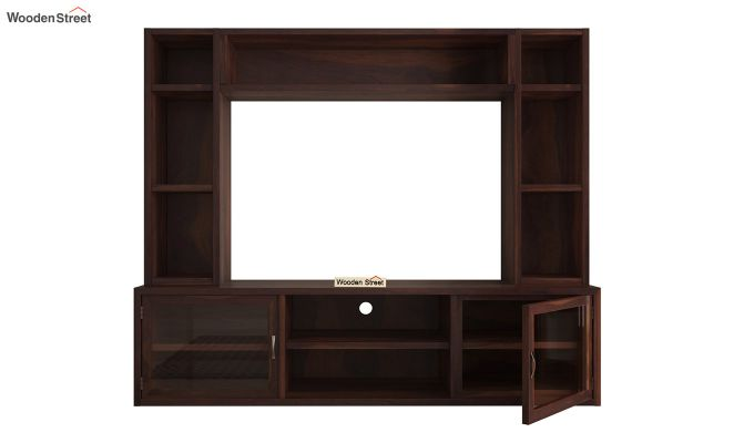 Estell Tv Unit With Shelves (Walnut Finish)-6