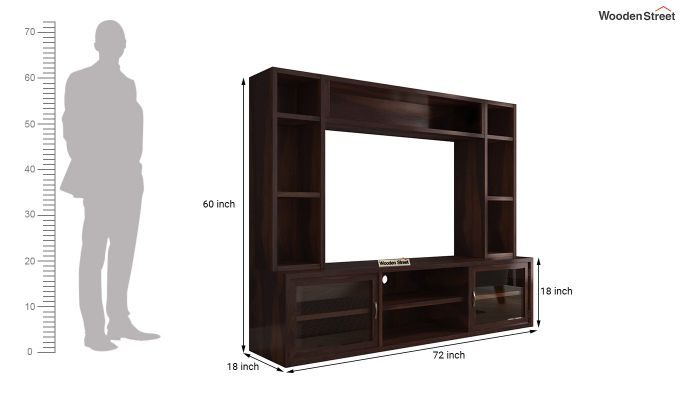 Estell Tv Unit With Shelves (Walnut Finish)-7