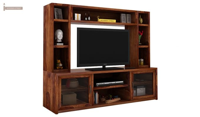Estell Tv Unit With Shelves (Teak Finish)-1