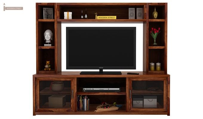 Estell Tv Unit With Shelves (Teak Finish)-2