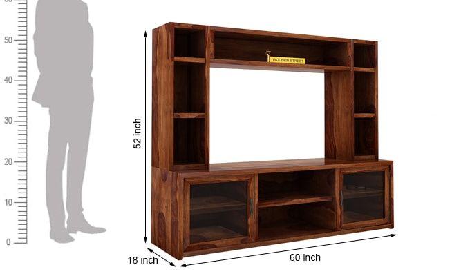 Estell Tv Unit With Shelves (Teak Finish)-6