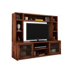 Estell Tv Unit With Shelves (Teak Finish)