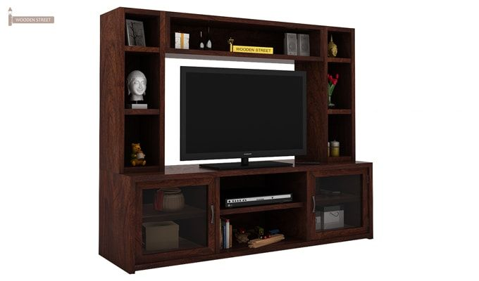 Estell Tv Unit With Shelves (Walnut Finish)-1