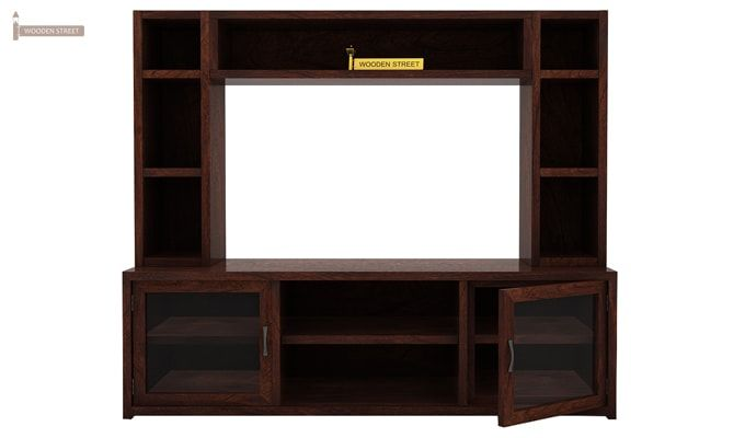 Estell Tv Unit With Shelves (Walnut Finish)-5