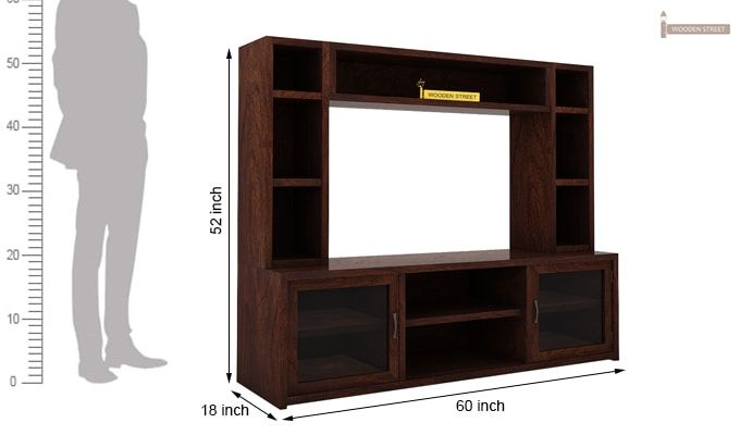 Estell Tv Unit With Shelves (Walnut Finish)-6