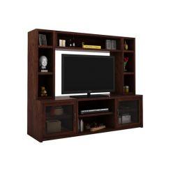 Estell Tv Unit With Shelves (Walnut Finish)