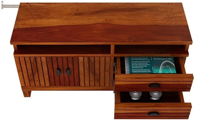 Felner Tv Unit (Honey Finish)-3