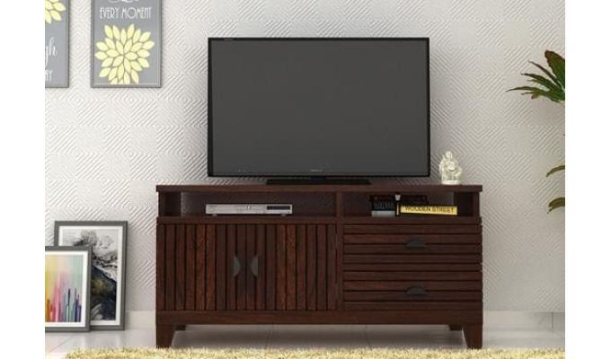 Felner Tv Unit (Walnut Finish)-1