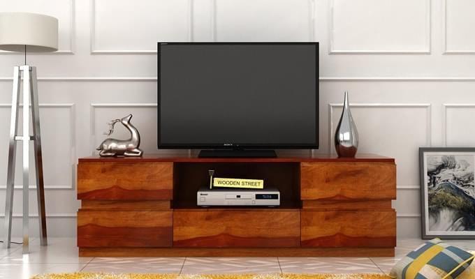 Florian Tv Unit (Honey Finish)-1