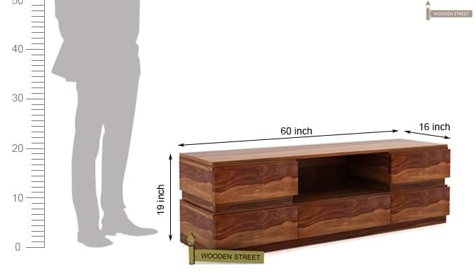 Florian Tv Unit (Teak Finish)-5