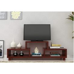 Gair Tv Unit (Mahogany Finish)