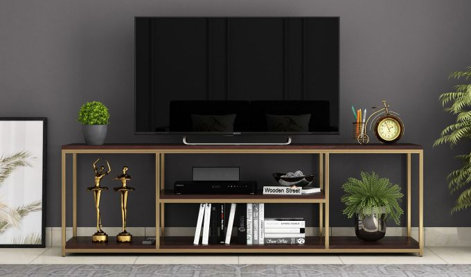 Grapho Tv Unit (Walnut Finish)-2