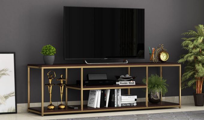 Grapho Tv Unit (Walnut Finish)-1