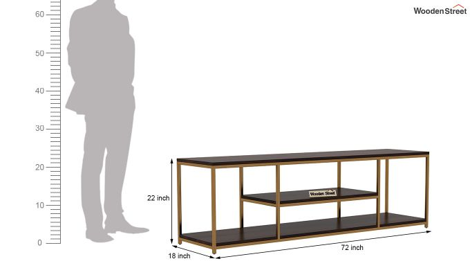 Grapho Tv Unit (Walnut Finish)-5