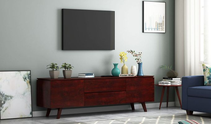 Hamlet Tv Unit (Mahogany Finish)-1