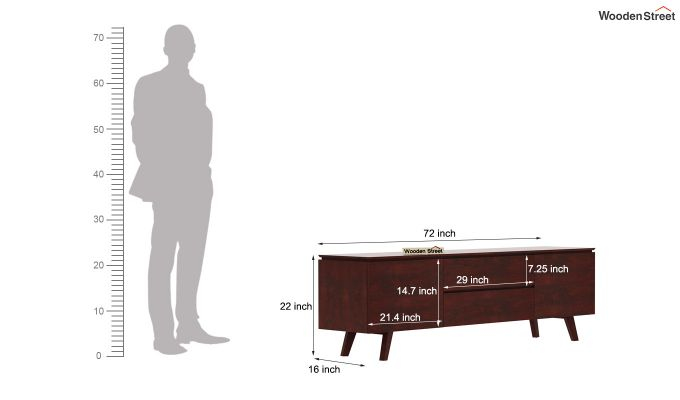 Hamlet Tv Unit (Mahogany Finish)-8