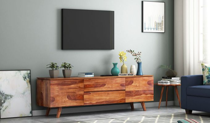 Hamlet Tv Unit (Teak Finish)-1