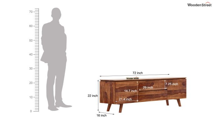 Hamlet Tv Unit (Teak Finish)-8