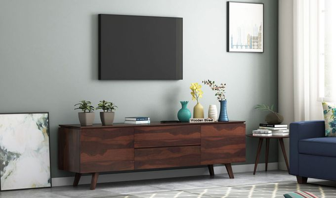 Hamlet Tv Unit (Walnut Finish)-1
