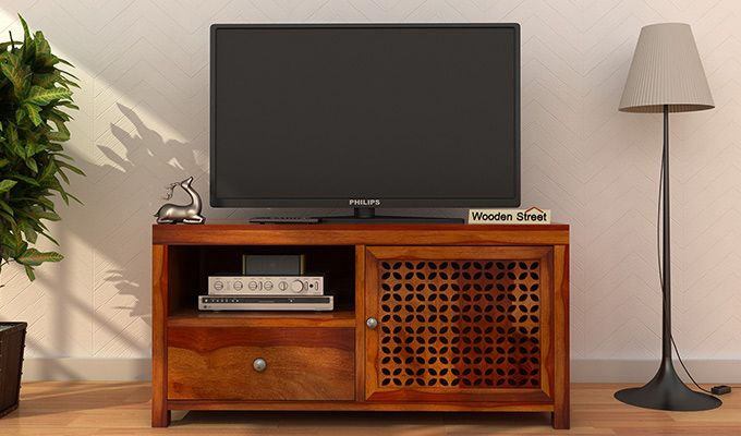 Hanson Tv Unit (Honey Finish)-1